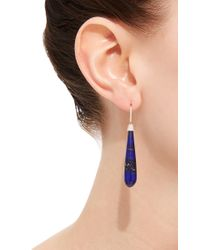 Susan Foster - Metallic Yellow Gold Lapis Drop Earrings - Lyst