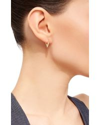 Noor Fares - Metallic Triangle Hoop Earrings - Lyst