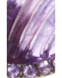 Noor Fares - Purple Amethyst Wing Earrings - Lyst