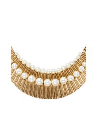 Oscar de la Renta - Metallic Gold Princess Necklace - Lyst