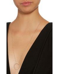 Suzanne Kalan - Pink 18k Rose Gold Diamond Necklace - Lyst
