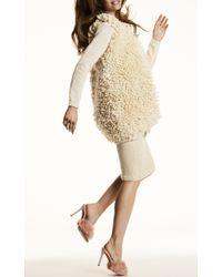 Nanna van Blaaderen - White Loop Knit Shaggy Long Vest - Lyst