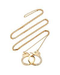 Jack Vartanian - Metallic 18k Gold Diamond Necklace - Lyst