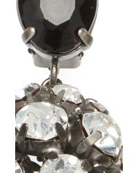 Marni - Black And Silver Strass Earrings - Lyst