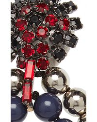 Marni - Red And Blue Earrings With Strass - Lyst