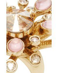 Oscar de la Renta - Metallic Galaxy Coral Ring - Lyst