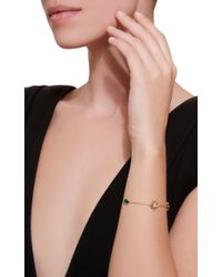 Anabela Chan - Metallic Exclusive Emerald Palm Bracelet - Lyst