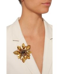 Erickson Beamon - Metallic Vermeil Bouquet 24k Gold-plated Crystal Brooch - Lyst
