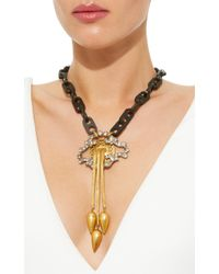 Lulu Frost - Metallic One-of-a-kind Victorian Broch Necklace - Lyst