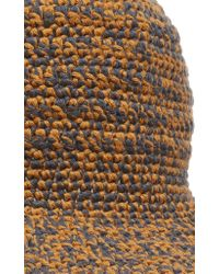 Etro - Orange Woven Bucket Hat - Lyst