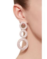 Joanna Laura Constantine - Metallic Grommets Statement Gold-plated Brass And Pave Cubic Zirconia Earrings - Lyst
