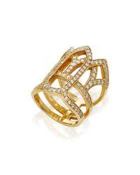 Colette - Metallic Yellow Gold Vatican Ring - Lyst