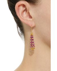 Mallary Marks - Red Eiffel Tower 18k Gold Beaded Earrings - Lyst