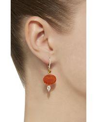 Sidney Garber - Orange Fire Opal Shimmers Earrings - Lyst