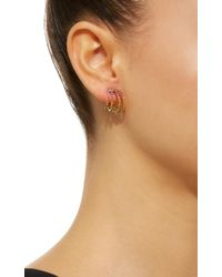 Joanna Laura Constantine | Metallic Gold-plated Rainbow Crisscross Hoop Earrings | Lyst