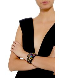 Ashley Pittman - Brown Upendo Horn And Multi-stone Bangle - Lyst