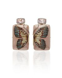 Silvia Furmanovich - Marquetry Pink Butterfly Earrings - Lyst