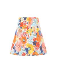 CELIA B Multicolor Celandine Mini Skirt