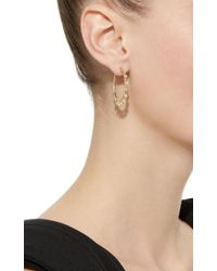 Sydney Evan - Metallic Small Dangly Tear Drop Hoops - Lyst