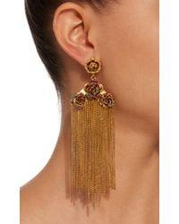 Erickson Beamon - Metallic Vermeil Bouquet 24k Gold-plated Crystal Fringe Earrings - Lyst