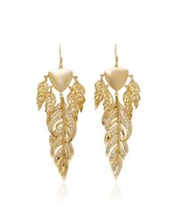 Fallon | Metallic Raven Gold-tone Chandelier Earrings | Lyst