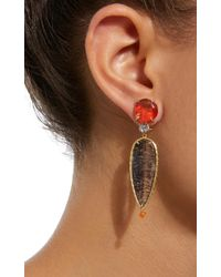 Daria de Koning - Black Caliente 18k Yellow Gold Multi-stone Earrings - Lyst