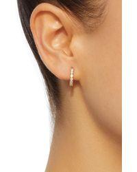 Octavia Elizabeth - Metallic Chloe 18k Gold Diamond Hoop Earrings - Lyst