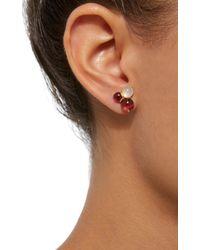 Daria de Koning - Red Dagny 18k Gold Multi-stone Cluster Stud Earrings - Lyst