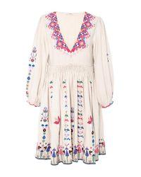 Ulla Johnson - Multicolor Vija Embroidered Mini Dress - Lyst