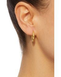 Octavia Elizabeth - Metallic 18k Gold Diamond Hoop Earrings - Lyst