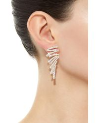 Hueb - Metallic Labyrinth Yellow Gold And Diamond Earrings - Lyst