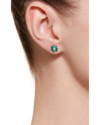 Colette - Green Star 18k Gold, Malachite And Diamond Earrings - Lyst