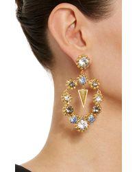 Nicole Romano - Metallic Palmer 18k Gold-plated Crystal Earrings - Lyst