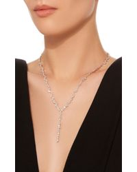 Suzanne Kalan - 18k White Gold And Diamond Necklace - Lyst