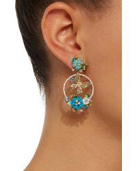 Anabela Chan - Blue Turquoise Butterfly Wreath Earrings - Lyst