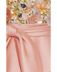 Marchesa - Pink Sequin Embroidered Tea Length Dress - Lyst