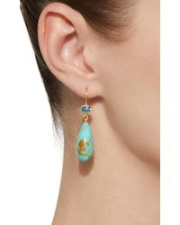 Mallary Marks - Blue Apple & Eve 18k Gold, Aquamarine And Turquoise Earrings - Lyst