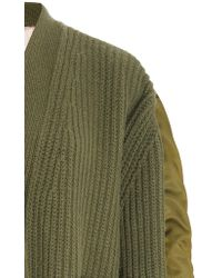 N°21 - Green Maureen Nylon Insert Cardigan - Lyst