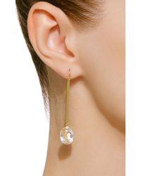 Sylva & Cie - Metallic 18k Gold Quartz Earrings - Lyst