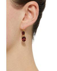 Renee Lewis - Brown 18k Gold Garnet Earrings - Lyst