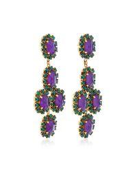 Erickson Beamon - Green Funhouse 24k Gold-plated Crystal Earrings - Lyst