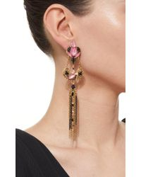Erickson Beamon - Metallic Ingenue Crystal Petal Earrings - Lyst