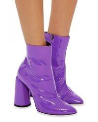 Ellery - Purple Patent Leather Bootie - Lyst