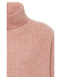 Sally Lapointe - Pink Exclusive Rib-knit Cashmere And Silk Blend Sweater - Lyst