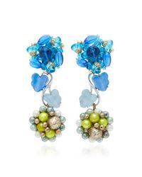 Lulu Frost | Blue M'o Exclusive Vintage Japanese Beaded Earrings | Lyst