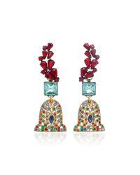 Lulu Frost   Multicolor M'o Exclusive Vintage Garnet Glass Earrings   Lyst