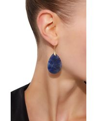 Jamie Wolf | Metallic Marquis Element Earrings With Pear Shaped Blue Sapphire | Lyst