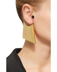 Paula Mendoza - Metallic A-rete Earrings In Onyx - Lyst