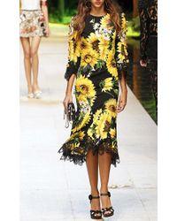 Dolce & Gabbana | Metallic Circle Earrings | Lyst