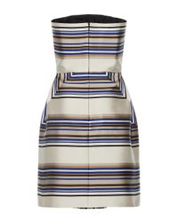 Martin Grant | Multicolor Strapless Geometric Dress | Lyst